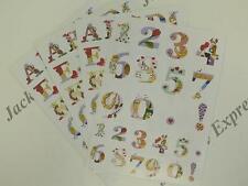 Alphabet & Numbers Die Cut Sticker Pack (110 Die Cuts) 4xA5 Sheets (Pack 2) AM37