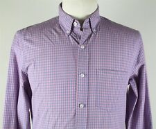 NEW J.Crew Slim Secret Wash Button Down Shirt MENS SMALL Purple Plaid Cotton