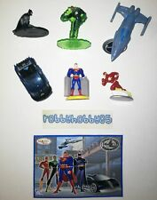 JUSTICE LEAGUE COMPLETE SET OF 6 WITH ALL PAPERS KINDER SURPRISE 2006 DC COMICS