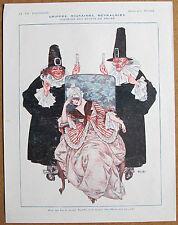HEROUARD 1917 Vie Parisienne Ad Print MIGRAINE GIRL APOTHECARY ASPIRIN DOCTOR