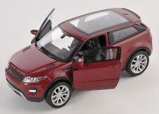 BLITZ VERSAND Land Rover Range Rover Evoque bordeaux Welly Modell Auto 1:34 NEU