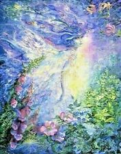 Josephine Wall Fantasy Art Print 'I Think I Saw A Fairy'