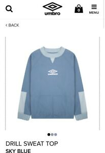 Umbro drill top Sweat Small Oasis Maine Road SOLD OUT Liam Gallagher Bnwt City