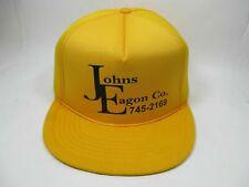 Vintage Madhatter Retro Yellow Padded Trucker Farmer Snapback Hat Cap John Eagon