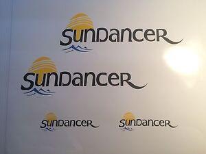 4 Sea Ray Sundancer MARINE VINYL  Sun Dancer Boat Decals  2- 24 inch 2-11x3.5