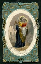 SAN GIUSEPPE - SANTINO HOLY CARD Colored Litho THÉODORE LEFÈVRE PARIS LACE PIZZO
