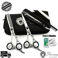 """Professional Barber Hairdressing Scissors _Thinning Hair Cutting Shears Set 6.5"""""""