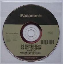 Gebrauchsanweisung: Blue Ray Player PANASONIC DMP-BDT465/460/365/364/363/361/360