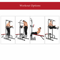 Multifunctional Pull-Up Bar Standing Tower Power Tower Dip Station