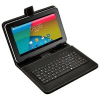 """9"""" Quad Core Android 4.4 KitKat Tablet PC 8GB Dual Camera A7 WiFi W/ Keyboard"""