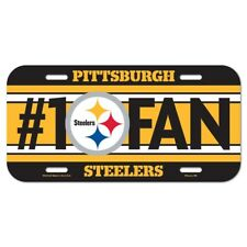 Pittsburgh Steelers Wincraft NFL Steelers #1 Fan License Plate FREE!