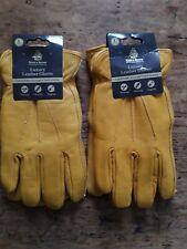 2 x Kent & Stowe Fleece lined Luxury Leather Gardening Gloves Size LARGE Mens