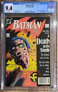 Batman #428 newsstand CGC-GRADED 9.4 WP Death of Robin Jason Todd (DEC 1988 DC)