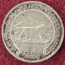 East Africa and Uganda Protectorates 25 Cents 1906 (E2405)