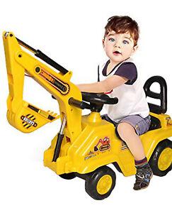 Ride On Car Children's Sit' N Ride Push Along Construction Bulldozer Digger  uk