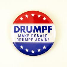 2 1/4 Inch Pinback Button - DRUMPF - Make Donald Drumpf Again! - Anti Trump Pin