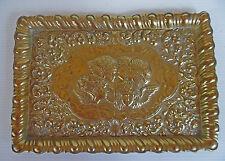 Vintage Brass Art Nouveau Tray with Cherubs .