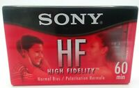 Sony High Fidelity 60 Minute Normal Bias Cassette Tapes C-60HFL NEW