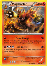 4X Pokemon Furious Fists Magmortar 11/111 Rare Card