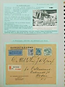1929 TRIAL FLIGHT REGISTERED COVER 7.50GLD NEDERLAND TO DUTCH INDIE B111.6 $0.99