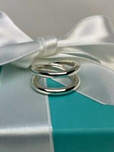 Tiffany & Co. Sterling Silver 925 Paloma Picasso Le Circle Crossover Ring