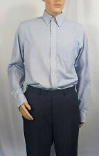 Ralph Lauren Men's Long sleeve Blue Micro Check Shirt Non Iron Fitted 16.5 / 42