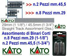KATO 20-091 SET N.10 BINARI CORTI TRACK ASSORTMENT 8x mm.29 + 2x mm.45,5 SCALA-N