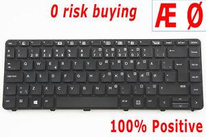 Danish DK Keyboard for HP ProBook 430 440 G3 G4 640 G2 840791-081 Dansk Tastatur