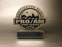 Vtg. Surf Series South Pier Huntington Beach Pro Am 2nd Place Surfing Trophy USA