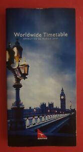 QANTAS WORLDWIDE TIMETABLE EFF 25 MARCH 2001