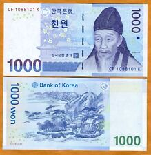 South Korea, 1000 ( 1,000 ) won, (2007), P-54, UNC