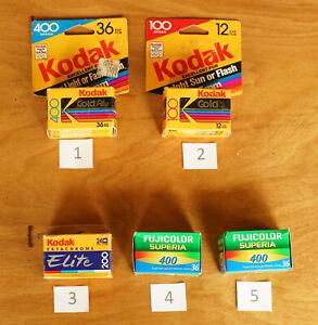 Colour Negative & Slide Film Kodak Fuji All Sealed Expired 020
