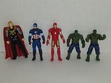 Avengers Ironman, 2 Hulk, Captain America, Iron Man, Thor 3.75'' Marvel figures
