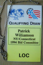 PASS-1994 WORLD CUP QUALIFYING DRAW~Patrick Williamson NY/Connecticut BID Commit