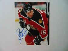 """""""Florida Panthers"""" Dave Gagner Hand Signed 8X10 Color Photo PAAS COA"""