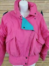 Vintage Roffe Ski Size 14 Jacket Thinsulate Retro Pink Blue Coat USA Made