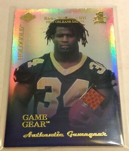 1999 COLLECTOR'S EDGE 1ST PLACE GAME GEAR RICKY WILLIAMS FOOTBALL RELIC CARD