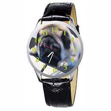 Gadget The Pug Expressive Eyes Stainless Wristwatch Wrist Watch