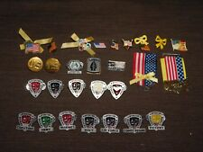 New listing Vintage 27 Military Pins Lot American Flags Desert Storm Army Marines Navy