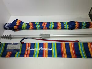 Tommy Bahama Beach Umbrella Stripes Blue, Green, Orange, Red