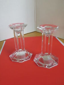 """Candlestick Lenox Ovations 5"""" Crystal Candle Holder Candlestick Holiday Table"""
