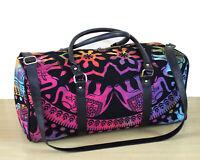 Indian Duffle Sports Gym Bag Unisex Travel Bags Cotton Mandala Tie Dye Handbag