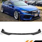 For 2017-2021 Honda Civic Si Jdm Matt Black Front Bumper Lip Spoiler Splitter