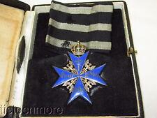 WWI GERMAN BLUE MAX POUR le MERITE MEDAL w/ RIBBON & PRESENTATION BOX CASE