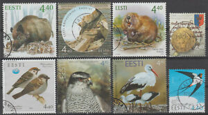 ANIMALS and BIRDS ESTONIA small collection of used stamps