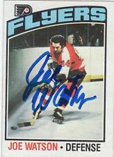 JOE WATSON Autographed Signed 1976-77 Topps card Philadelphia Flyers COA