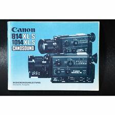 Canon 814XL-S/1014XL-S Canosound Bedienungsanleitung / Gebrauchsanweisung