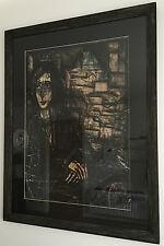 Bernard Buffet Rare Peinture À L'huile Signé À La Main Daté 1968 Encadré