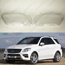 Mercedes ML W166 (11-15) OEM Headlight Glass Headlamp Lens Plastic Cover (PAIR)