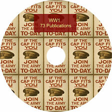 WW1 World War 1 Huge Collection of 73 Books on DVD.